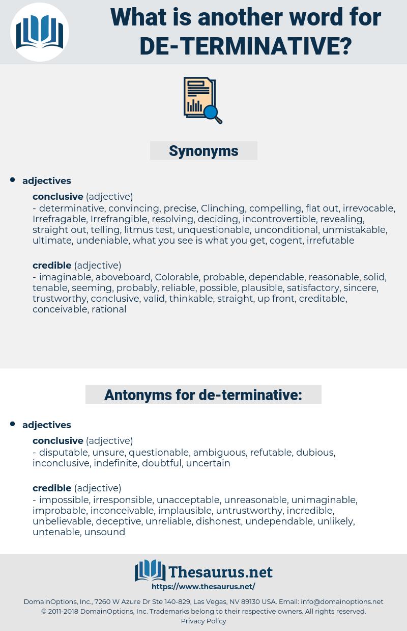 de terminative, synonym de terminative, another word for de terminative, words like de terminative, thesaurus de terminative