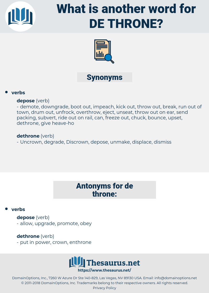 de throne, synonym de throne, another word for de throne, words like de throne, thesaurus de throne