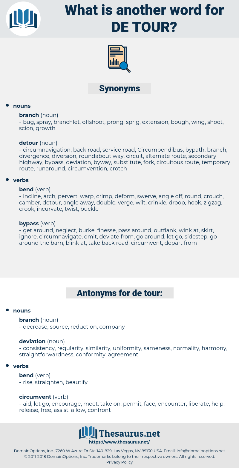 de tour, synonym de tour, another word for de tour, words like de tour, thesaurus de tour