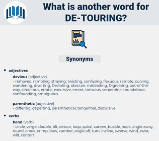 de-touring, synonym de-touring, another word for de-touring, words like de-touring, thesaurus de-touring