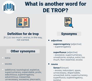 de trop, synonym de trop, another word for de trop, words like de trop, thesaurus de trop