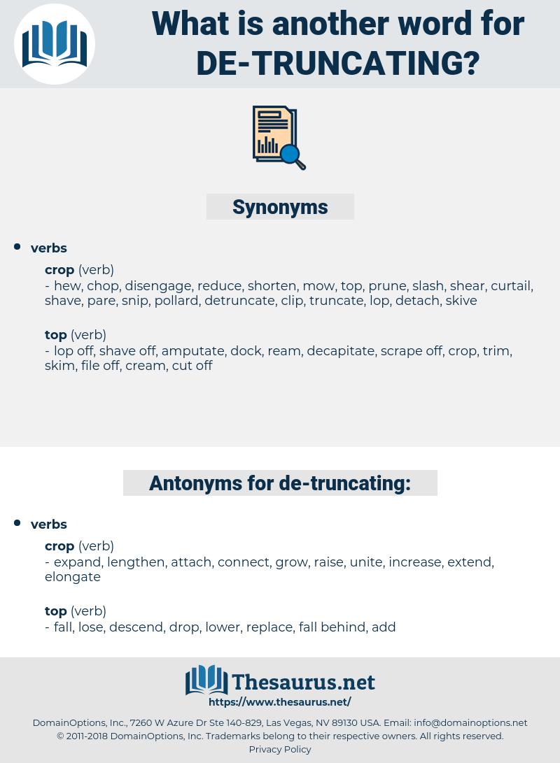 de truncating, synonym de truncating, another word for de truncating, words like de truncating, thesaurus de truncating