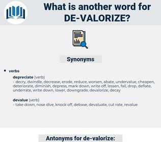 de-valorize, synonym de-valorize, another word for de-valorize, words like de-valorize, thesaurus de-valorize