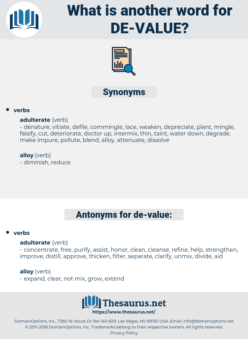 de value, synonym de value, another word for de value, words like de value, thesaurus de value