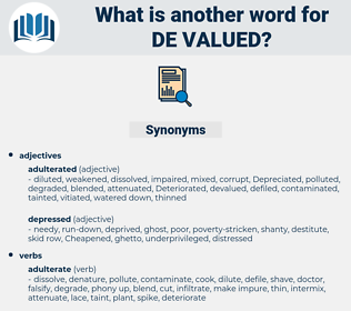 de-valued, synonym de-valued, another word for de-valued, words like de-valued, thesaurus de-valued