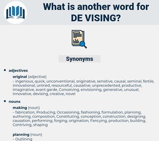 de vising, synonym de vising, another word for de vising, words like de vising, thesaurus de vising