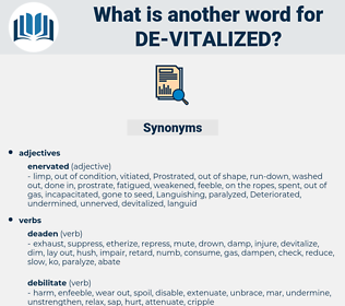 de-vitalized, synonym de-vitalized, another word for de-vitalized, words like de-vitalized, thesaurus de-vitalized