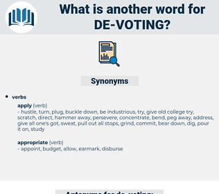 de voting, synonym de voting, another word for de voting, words like de voting, thesaurus de voting