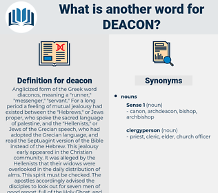 deacon, synonym deacon, another word for deacon, words like deacon, thesaurus deacon