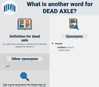 dead axle, synonym dead axle, another word for dead axle, words like dead axle, thesaurus dead axle