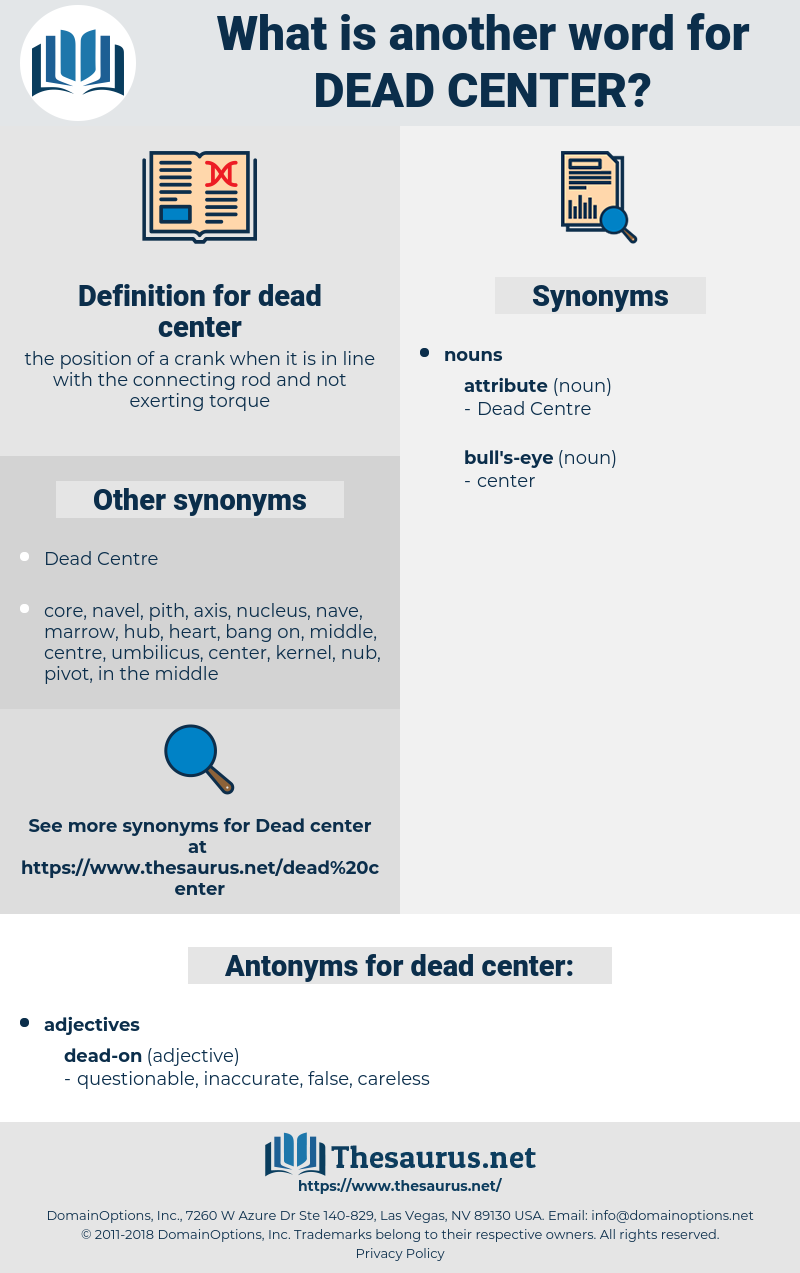 dead center, synonym dead center, another word for dead center, words like dead center, thesaurus dead center