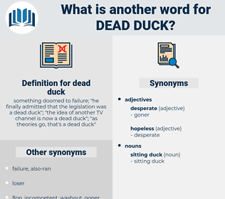 dead duck, synonym dead duck, another word for dead duck, words like dead duck, thesaurus dead duck