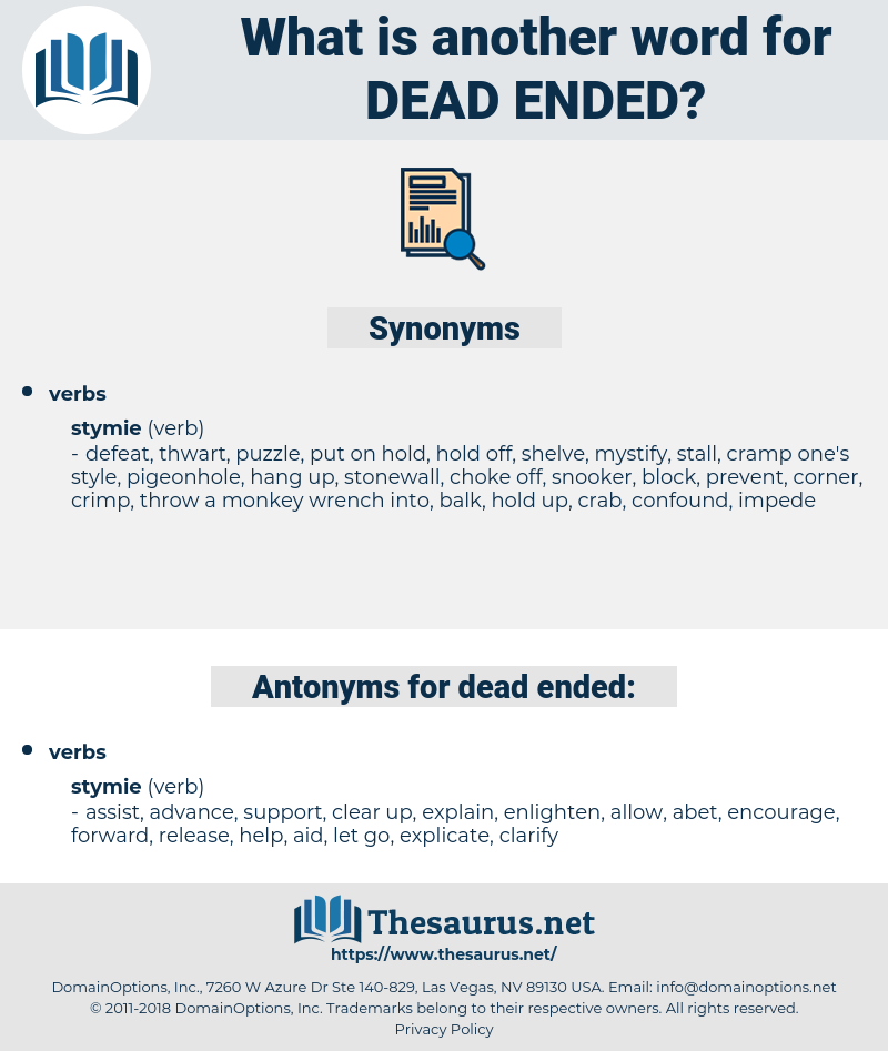 dead-ended, synonym dead-ended, another word for dead-ended, words like dead-ended, thesaurus dead-ended