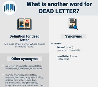 dead letter, synonym dead letter, another word for dead letter, words like dead letter, thesaurus dead letter