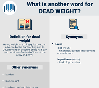 dead weight, synonym dead weight, another word for dead weight, words like dead weight, thesaurus dead weight