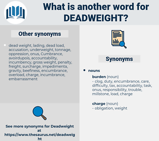 deadweight, synonym deadweight, another word for deadweight, words like deadweight, thesaurus deadweight