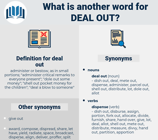 deal out, synonym deal out, another word for deal out, words like deal out, thesaurus deal out