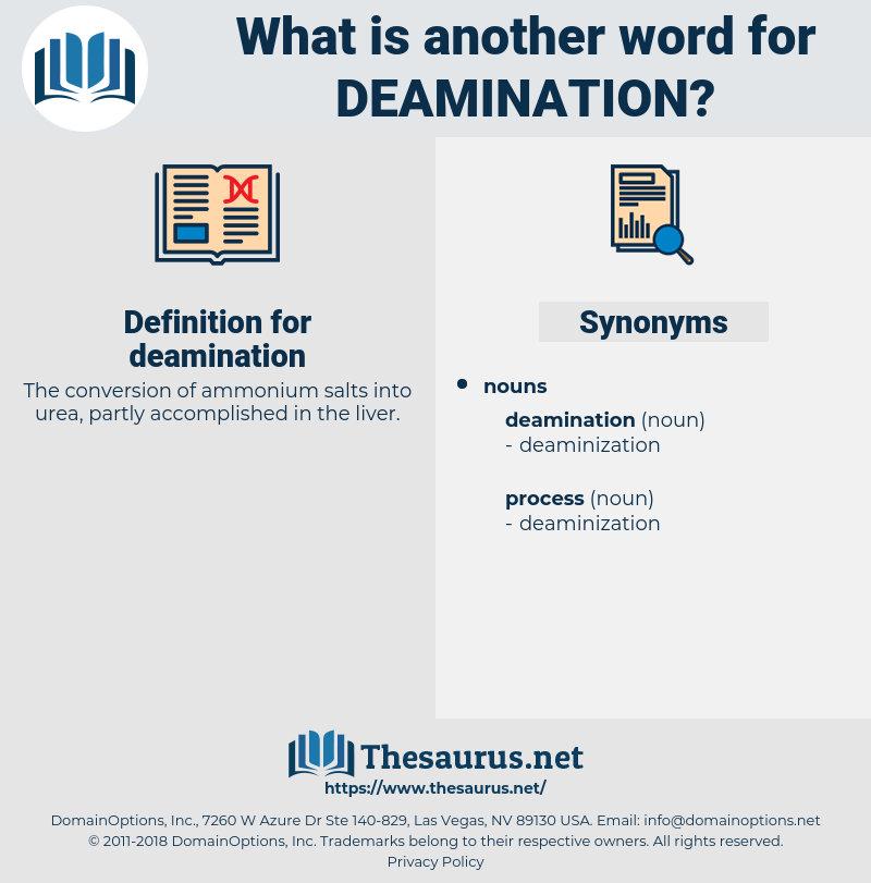 deamination, synonym deamination, another word for deamination, words like deamination, thesaurus deamination