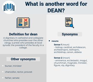 dean, synonym dean, another word for dean, words like dean, thesaurus dean