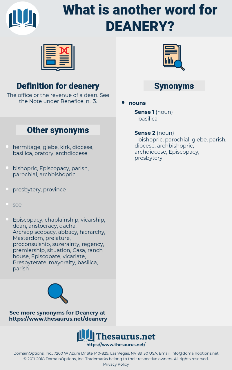 deanery, synonym deanery, another word for deanery, words like deanery, thesaurus deanery