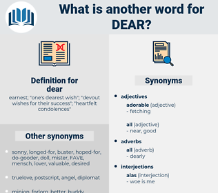 dear, synonym dear, another word for dear, words like dear, thesaurus dear