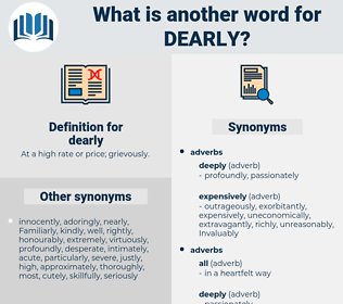 dearly, synonym dearly, another word for dearly, words like dearly, thesaurus dearly