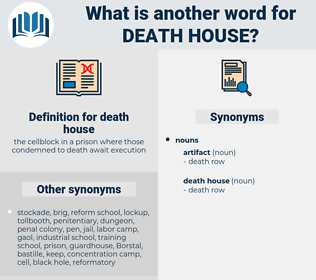 death house, synonym death house, another word for death house, words like death house, thesaurus death house