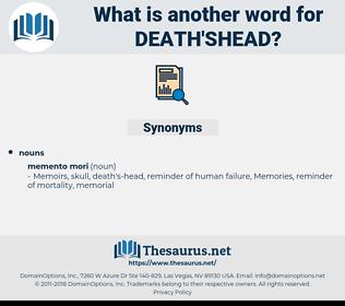death'shead, synonym death'shead, another word for death'shead, words like death'shead, thesaurus death'shead