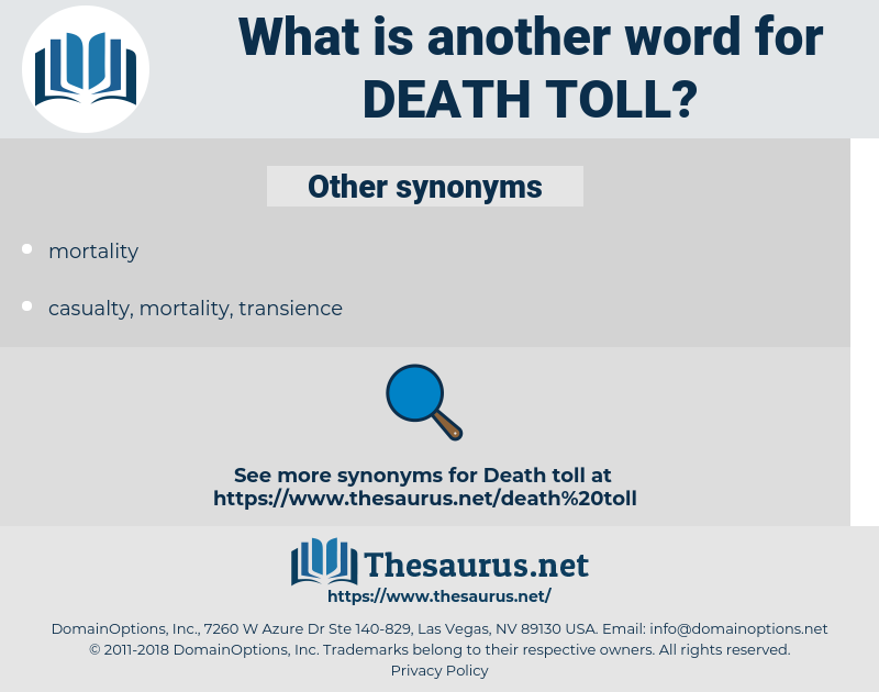 death toll, synonym death toll, another word for death toll, words like death toll, thesaurus death toll