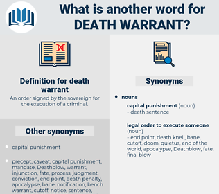death warrant, synonym death warrant, another word for death warrant, words like death warrant, thesaurus death warrant