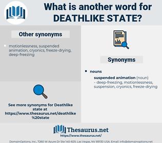 deathlike state, synonym deathlike state, another word for deathlike state, words like deathlike state, thesaurus deathlike state