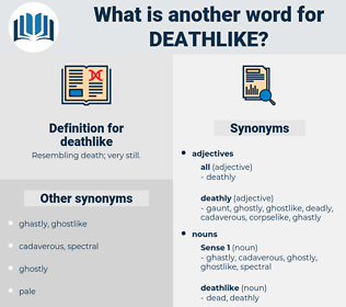 deathlike, synonym deathlike, another word for deathlike, words like deathlike, thesaurus deathlike