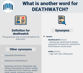 deathwatch, synonym deathwatch, another word for deathwatch, words like deathwatch, thesaurus deathwatch