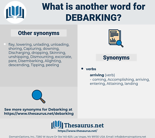 Debarking, synonym Debarking, another word for Debarking, words like Debarking, thesaurus Debarking