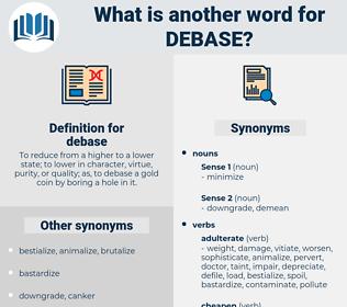 debase, synonym debase, another word for debase, words like debase, thesaurus debase