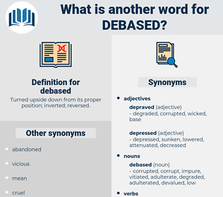 debased, synonym debased, another word for debased, words like debased, thesaurus debased