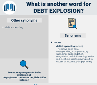 debt explosion, synonym debt explosion, another word for debt explosion, words like debt explosion, thesaurus debt explosion