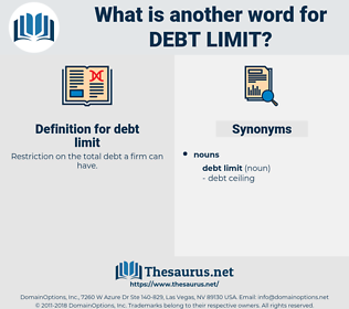 debt limit, synonym debt limit, another word for debt limit, words like debt limit, thesaurus debt limit