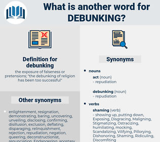 debunking, synonym debunking, another word for debunking, words like debunking, thesaurus debunking