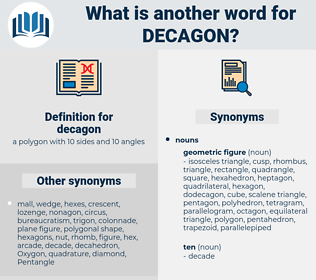 decagon, synonym decagon, another word for decagon, words like decagon, thesaurus decagon
