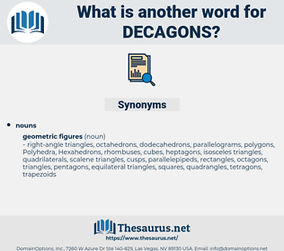decagons, synonym decagons, another word for decagons, words like decagons, thesaurus decagons