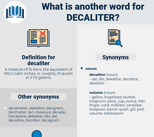 decaliter, synonym decaliter, another word for decaliter, words like decaliter, thesaurus decaliter