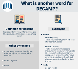 decamp, synonym decamp, another word for decamp, words like decamp, thesaurus decamp