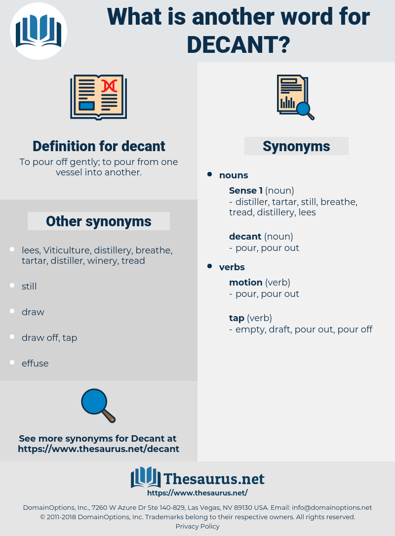 decant, synonym decant, another word for decant, words like decant, thesaurus decant
