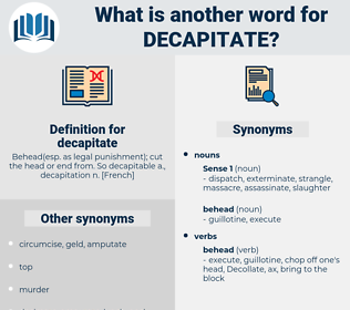 decapitate, synonym decapitate, another word for decapitate, words like decapitate, thesaurus decapitate