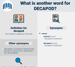 decapod, synonym decapod, another word for decapod, words like decapod, thesaurus decapod