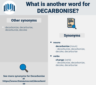 decarbonise, synonym decarbonise, another word for decarbonise, words like decarbonise, thesaurus decarbonise