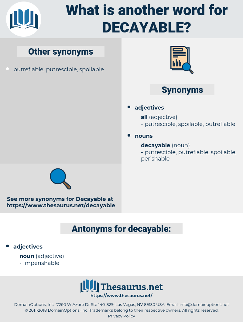 decayable, synonym decayable, another word for decayable, words like decayable, thesaurus decayable