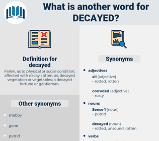 decayed, synonym decayed, another word for decayed, words like decayed, thesaurus decayed