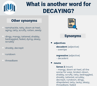 Decaying, synonym Decaying, another word for Decaying, words like Decaying, thesaurus Decaying